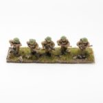 BF01 – British Expeditionary Force – Bren LMG gunner, no2 and 3 riflemen moving