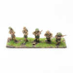 BF15 – British Expeditionary Force – NCO with Rifle and 4 Riflemen Moving