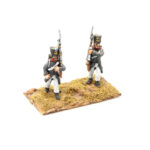 FRA081 – French Line in Greatcoat Fusilier March Attack Early Shako (2 poses in pack)