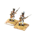 FRA096 – French Line in Greatcoat Fusilier Porte Arms Late Shako (2 poses in pack)